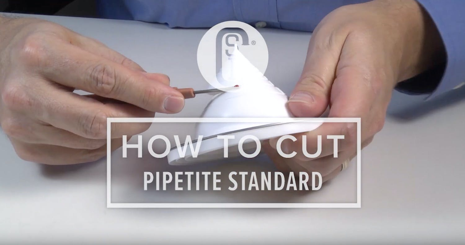 How to Cut Pipetite Standard