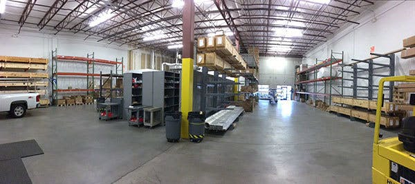 CSI North Carolina warehouse after reorganization