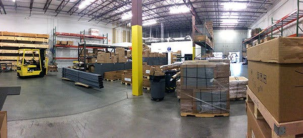 CSI North Carolina warehouse before reorganization