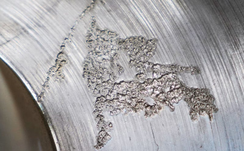 Cavitation Damage on Pump Casing
