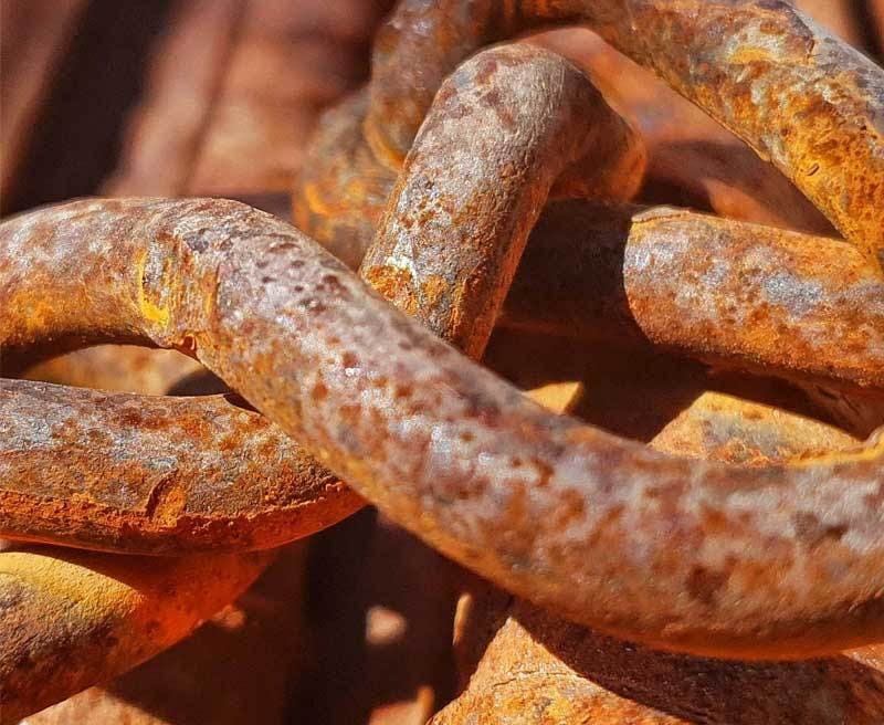 Passivation - Rusted Chain
