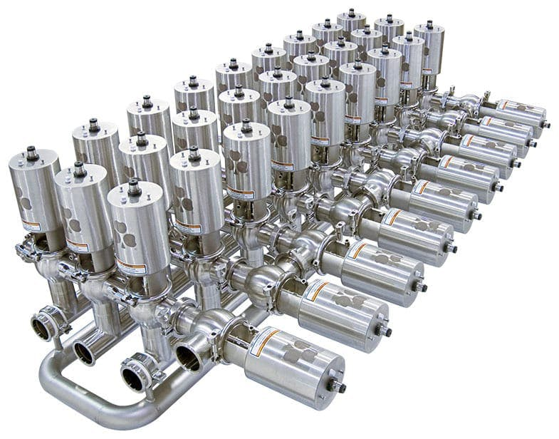 Divert Valve Manifold on Frame for Field Mounting