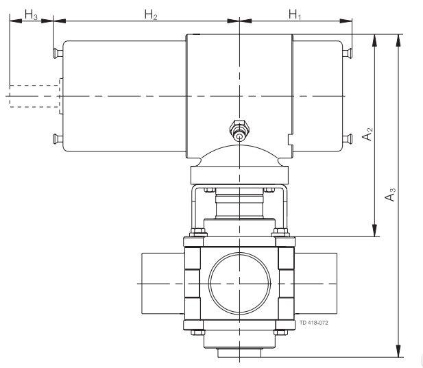 Alfa-Laval-Koltek-Actuator-Dimensions