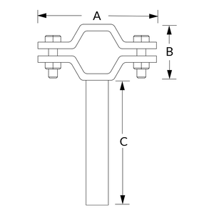 B24B with Attached Rod Dimensional Diagram