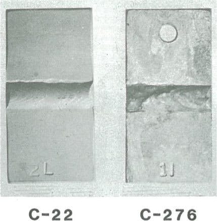 C-22 vs C-276 welds